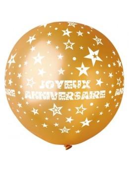 Ballon géant anniversaire or