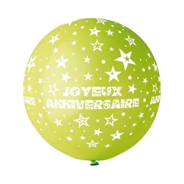Ballon géant anniversaire vert anis