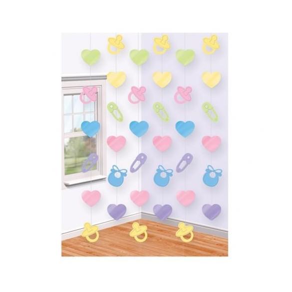 6 guirlandes verticales Baby shower