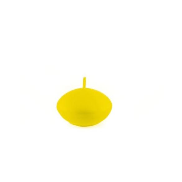 Set 6 bougies flottantes jaune 4.7cm
