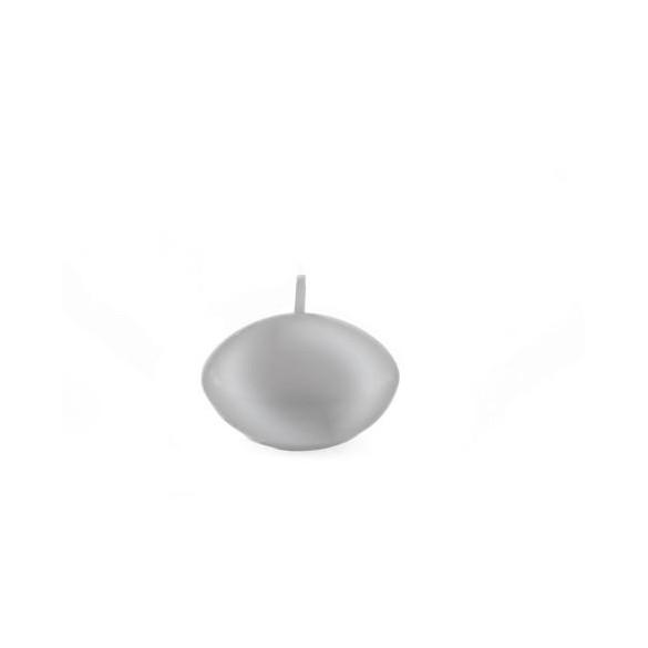 Set 6 bougies flottantes argent métal 4.7cm