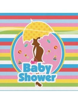 16 Serviettes cocktail Baby Shower
