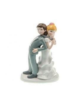 Figurine couple mariés résine cravate