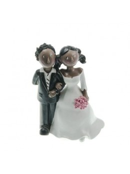 Figurine couple mariés résine black and black
