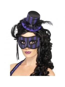 Mini Chapeau Burlesque + loup violet