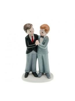 Figurine couple mariés résine garçons