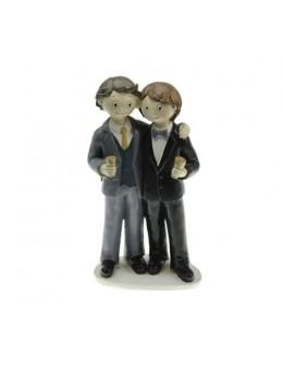 Figurine couple mariés résine gay garçon