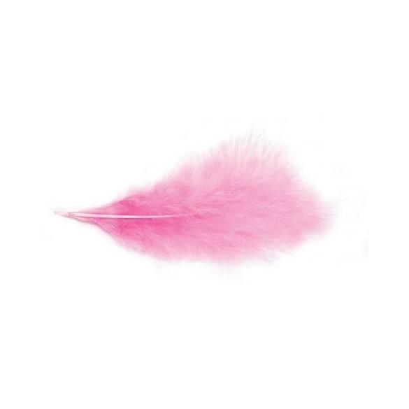 Pochette de plumes rose 10 grammes