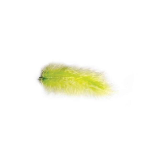 Pochette de plumes vert lime 10 grammes