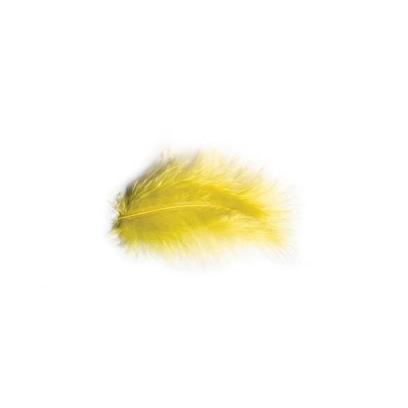 Pochette de plumes jaune 10 grammes