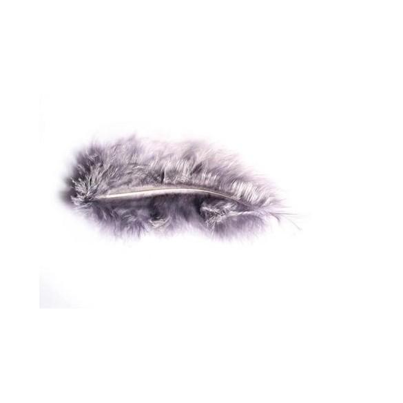Pochette de plumes gris 10 grammes