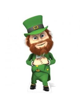 """Figurine géante lutin """"Saint Patrick """""""