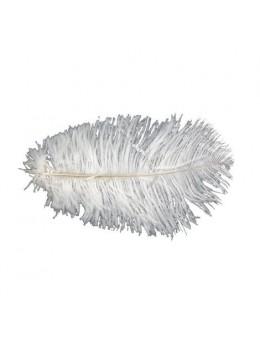 Sachet 2 plumes d'autruches 15-20cm blanc