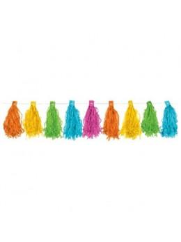 Guirlande de tassels multicolores 1m80