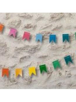 Guirlande mini fanions multicolore 2m