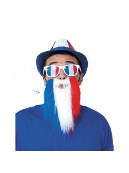 Barbe de supporter tricolore
