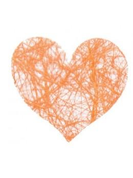 Sachet de 100 coeurs fibre orange