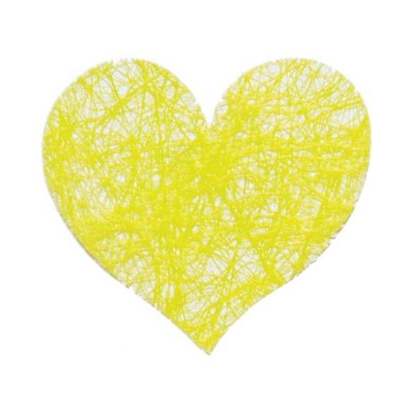 Sachet de 100 coeurs fibre vert lime