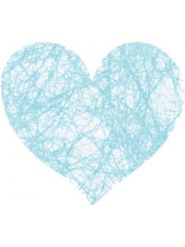 Sachet de 100 coeurs fibre turquoise