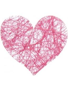 Sachet de 100 coeurs fibre bordeaux