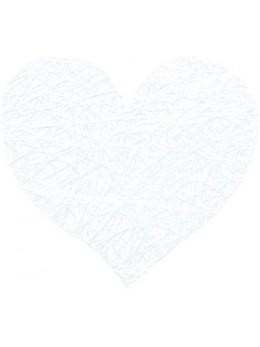 Sachet de 100 coeurs fibre blanc