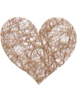 Sachet de 100 coeurs fibre chocolat