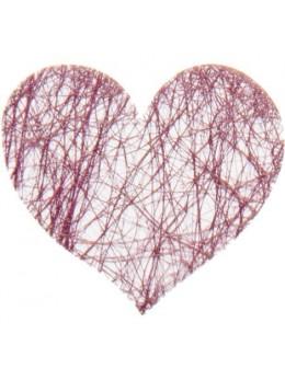 Sachet de 100 coeurs fibre prune
