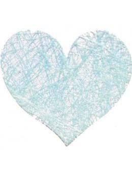 Sachet de 100 coeurs fibre bleu pastel