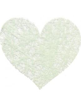 Sachet de 100 coeurs fibre vert pastel