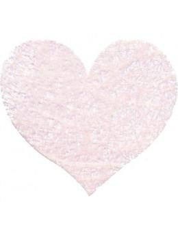 Sachet de 100 coeurs fibre rose pastel