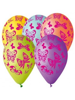 10 ballons papillons multicolore