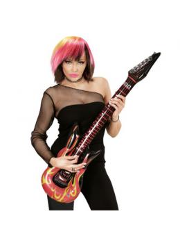 Guitare électrique gonflable flammes