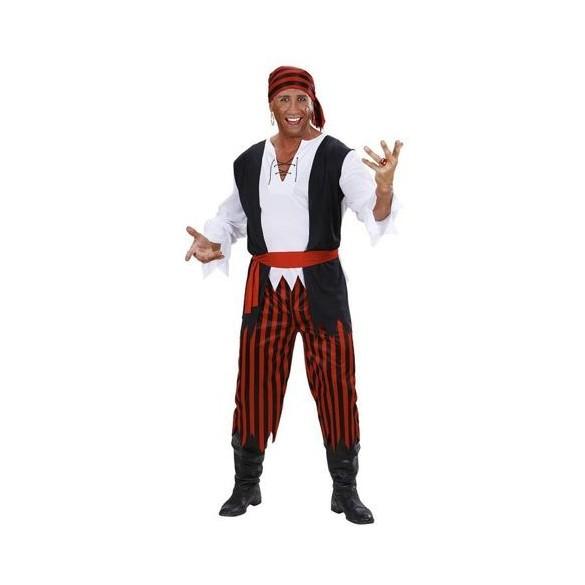Déguisement pirate noir et rouge