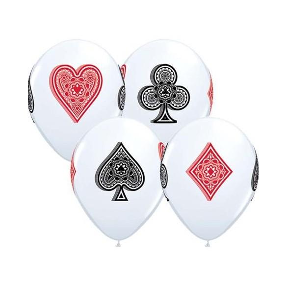10 ballons jeux de cartes