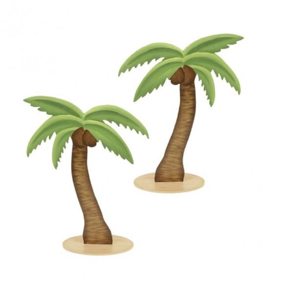 3 Palmiers bois 9cm