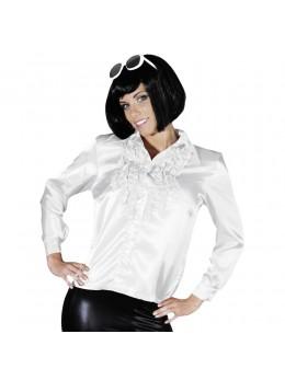 Déguisement chemise disco femme blanche