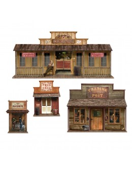 Set de 4 décors western repositionnables