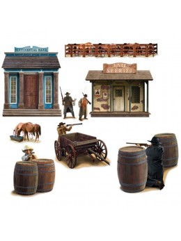 Set de 9 décors western repositionnables