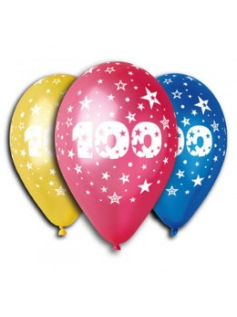10 ballons 100 ans multicolore