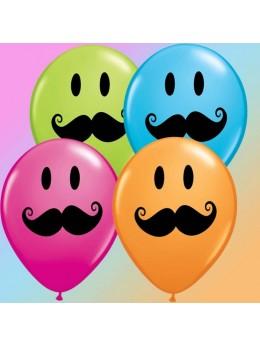 ballons avec dessin moustache