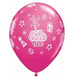 ballon motif cupcake