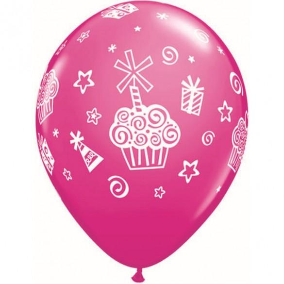10 ballons Cupcakes