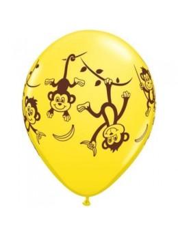 10 Ballons luxe singes rigolos