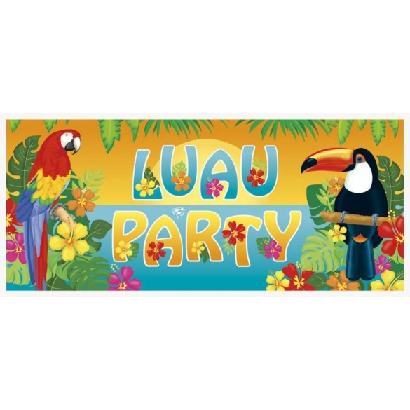 Poster déco Luau tiki party