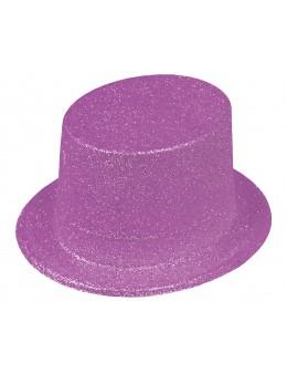 Gibus paillettes violet fluo