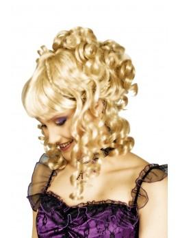 perruque chignon blonde