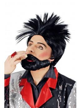 perruque et barbe noire