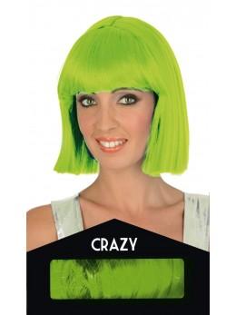 perruque crazy verte fluo