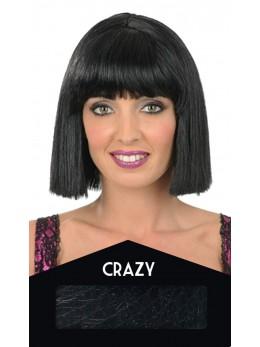 perruque crazy noire