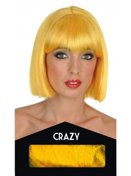perruque crazy jaune